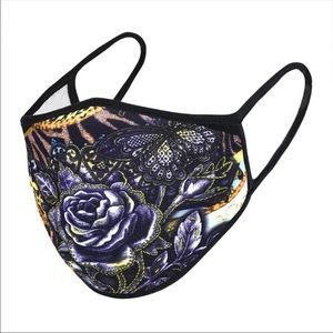 Accessories - Black Rose Face Mask